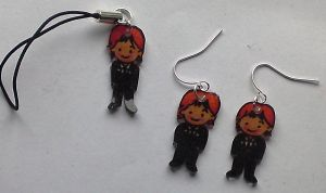 Rupert Grint earrings set by Lovelyruthie