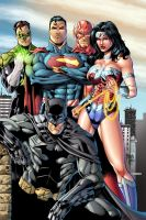 JLA by Marcio and Steven colored by Dany-Morales