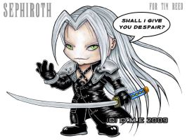Sephiroth Chibi commission by tavington
