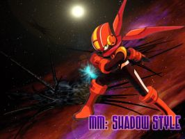 Wallpaper - MegaMan Sh. Style by Shadows-Entity