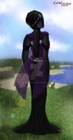 An Enderman in a Wedding Dress. For Reasons. by YamiTasher