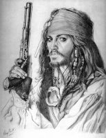 Captain Jack Sparrow by honorat