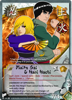 Naruto TCG: Gai and Hani by mongrelmarie