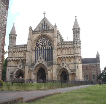 St Albans west front by faeriesoph