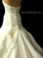 Wedding Gown - Back detail by kairi-g