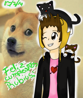 Happy birthday  Rubius by Paulydigi