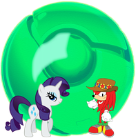 Rarity, and Knuckles, Google Chrome Icon. by Flutterflyraptor