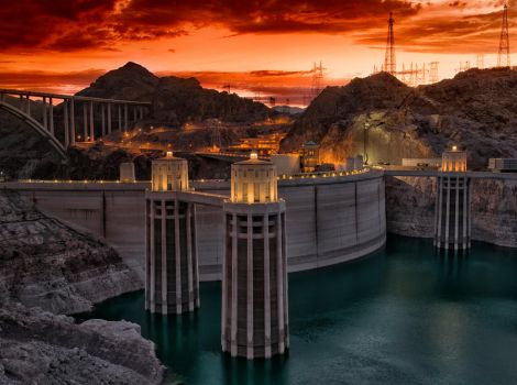 Hoover Dam Sunset by Krizzoj