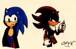 Shadow and Sonic: Happy Halloween by RAWN89