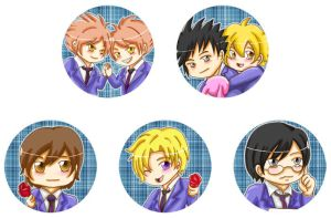 Buttons :: Ouran Host Club by khiro