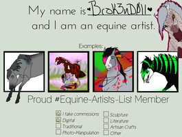 EAL Equine Artist Template by Brok3nD0ll