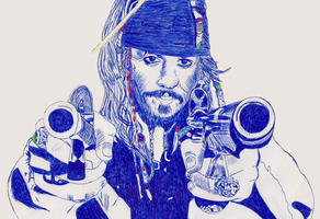 Jack Sparrow by ladyjart