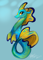 REUPLOAD Seahorse Design by eleanart-approved