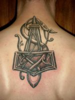 Viking Art Thorshammer 9 by DarkSunTattoo