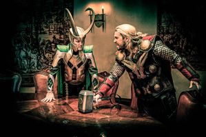 Thor and Loki by agfrx7