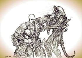 Alien vs Predator vs Engineer by KronnangDunn