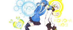 Ene and Konoha from Mekakucity Actors by dhavy12