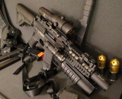 MOAs Custom Airsoft Rifle + by MasterOkiAkai