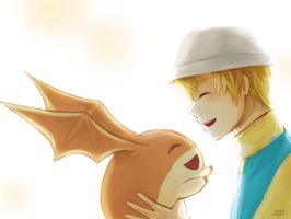 FA Patamon and Takeru by Lavypoo