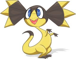 Helioptile/Elikiteru The frilled lizard Pokemon by naysu