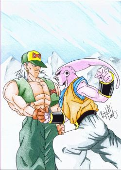 Android 13 fighting super Buu by VegetaVixen22