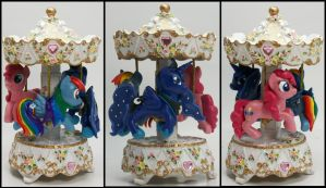 My Little Pony Custom Musical Carousel Luna RD PP by MadPonyScientist