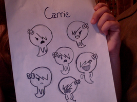 Carrie the emo ghost child by exileinvadercat