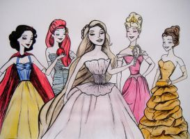 Disney Princesses by xBarnowlx
