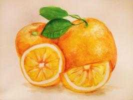 Oranges by monsty