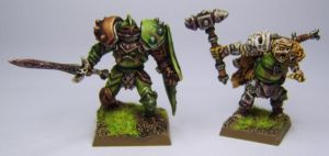 MORDHEIM Chaos Champion and Chaos Marauder (Nurgle by FraterSINISTER