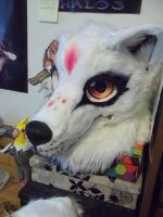 Sunny fursuit head W.I.P. 3 by AlieTheKitsune