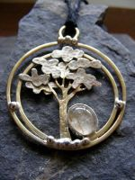 Rutilated Quartz Tree Necklace by MoonLitCreations