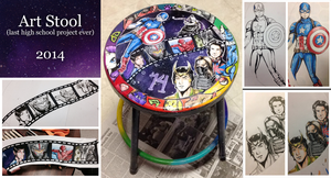Art Stool - school project - by xxMoonwish