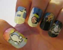 Moominland Midwinter nails set 1 by henzy89