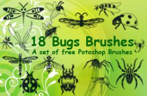 Insect Clip Art Brushes by fiftyfivepixels