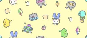 Tamagotchi Fabric by CloverWing