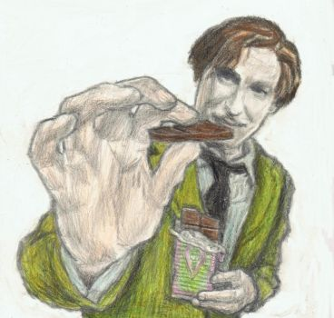 Professor Lupin feeds you chocolate by gagambo