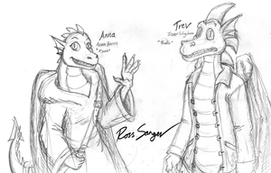 Anna and Trev redesign sketches by Ross-Sanger