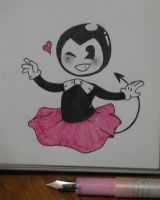 Bendy in a Tutu by DragneeEmberDragon