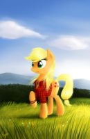 AJ on the hill by TheFlyingMagpie