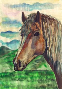 Some people need to learn from horses kindness by Mar1stafer