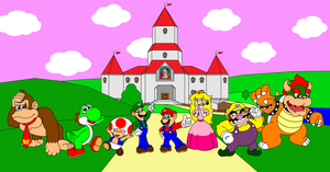 The cast of Mario Kart 64 by DarkDiddyKong