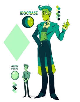 REFERENCE - Idocrase + Green Pearl by CharliOak
