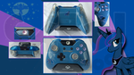 Custom Xbox One Princess Luna/Nightmare Moon by CARDI-ology