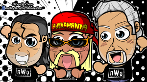 Hulk Hogan, Scott Hall and Kevin Nash - WWE Chibi by kapaeme