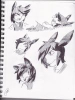 Vio Grayscale Sketches by Soviet-Union-Russia