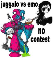 Juggalo vs Emo. by Amayalucy