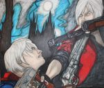 Devil May Cry Nero and Dante by bluedragoneye