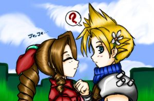 Aerith y Cloud by AnonimAlexis