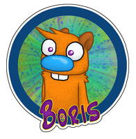 Cartoon Badge: Boris by Rica-Fox-Prower
